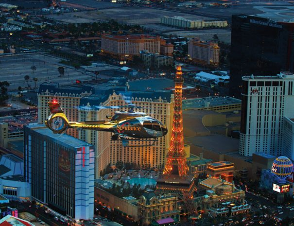 Helicoptor Fly over Las Vegas