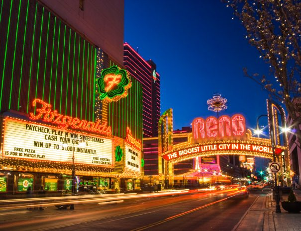Famous neon sign in Reno Nevada USA