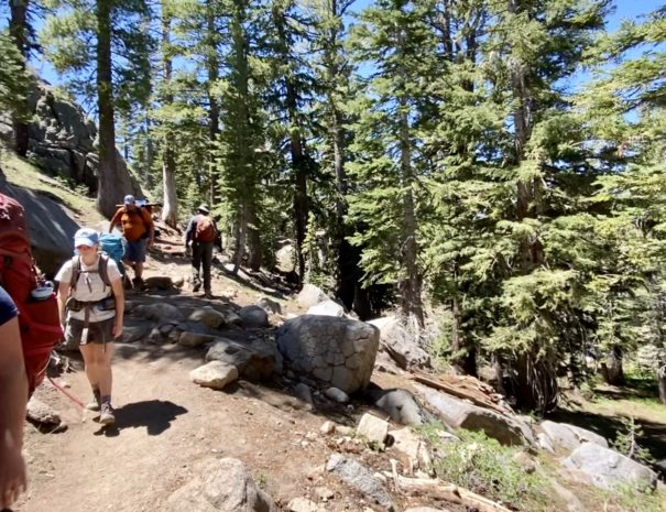 Hiking Carson Pass on History of the West Tour
